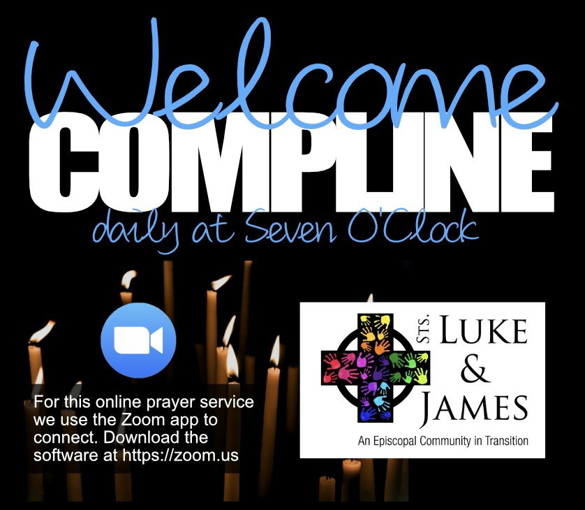 Advertisement for daily compline prayers